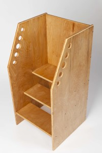 Fast Industries; Steve Fast; children's furniture Denver; step stool; child kitchen stool